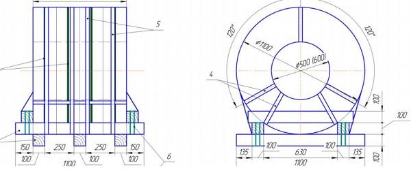схема упаковки стальной ленты (горизонтальная ось)